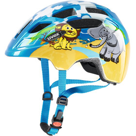 UVEX Finale Bike Helmet Children LED blue/colourful